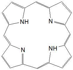 Strukturformel des Porphyrin-Grundgerüsts