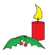 Kerze und Mistelzweige